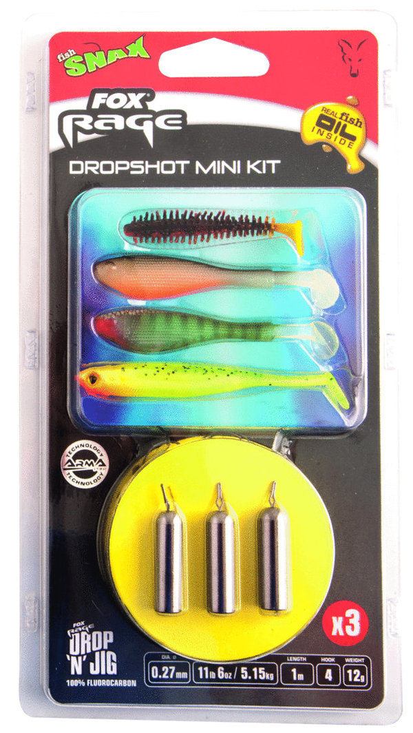 Fox Rage dropshot mini kit ready rigs #6