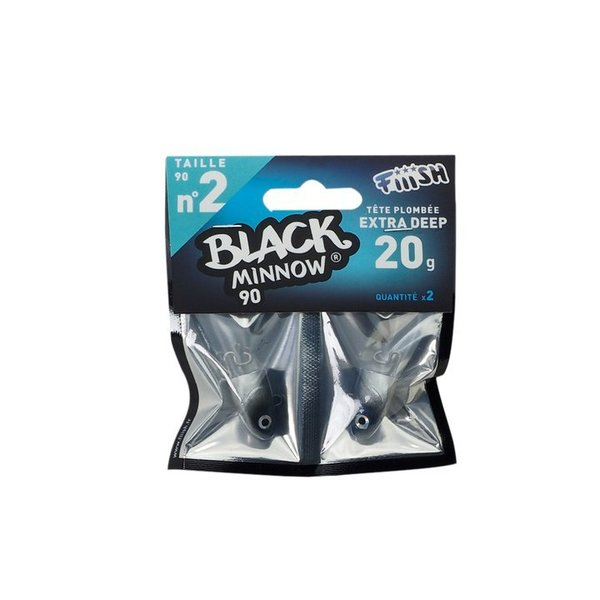 Black minnow no 2 extra deep 20 g bleu