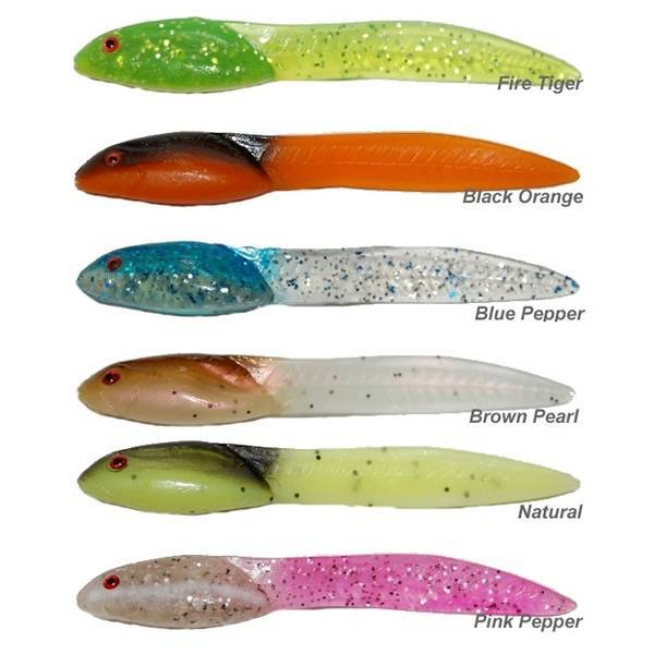 Tournament Baits Baby Frog 4 Inch kleur Brown Pearl Glitter
