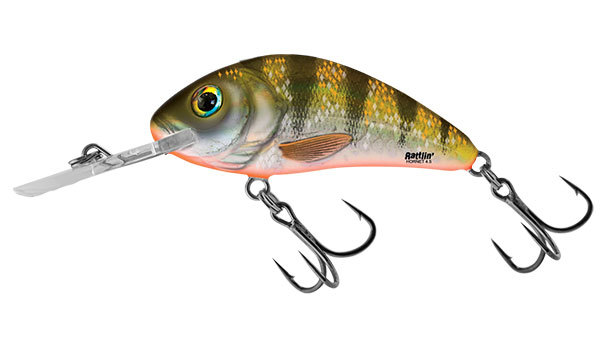 Salmo hornet rattlin floating 4,5 cm Yellow Holo Perch