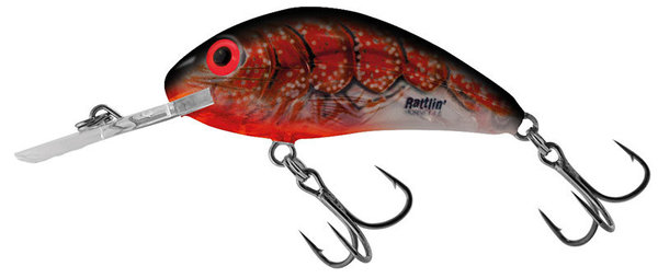 Salmo hornet rattlin floating 4,5 cm Clear Bleeding Craw