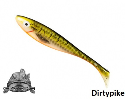Gator gum shad 22 cm Dirty Pike